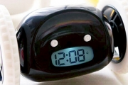Hey Sleepyhead! Never Oversleep Again w/ a Runaway Alarm Clock. Runs Away & Keeps Beeping to Get You Out of Bed! Available in 4 Colours