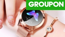 Beautiful, Stylish & Smart Women's Fitness Smart Watch w/ Leather or Stainless Steel Strap. Ft. Heart Rate Monitor, Sleep & Calorie Tracking & More!