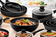 Cook Up Delicious Creations with this StoneChef Cookware Collection! Ft. Set of Quality, Durable Cast Pans or Casserole Set & Grill Pans