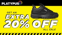 Shop the Best of Iconic Sneaker & Shoe Brands at Platypus! Get an Extra 20% Off Already Marked Down Prices w/ Code: YAS20! Plus P&H. Hurry Ends Soon!