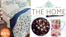 Breathe Life into Your Home w/ this Floral Hot Home Trend Sale! Floral Themed Bedding Set, Ankara Floral Rug, Floral Patterned Chaise Lounge & More