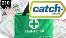 Be Ready For Any Emergency with a 210-Piece Emergency First Aid Kit! Incl. Bandages, Instant Cold Pack, CPR Mask, Cleansing Wipes & More
