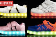 Want Your Kid to Glow? Grab them a Pair of GLEAMKICKS LED Sneakers! Ft. LED Light-up Sole w/ Micro USB Charge + Option to Change the Light's Colour