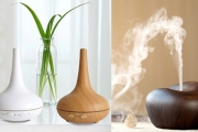 Clean & Hydrate the Air w/ Hygienic Mist from Ultrasonic Aromatherapy Air Humidifier Diffuser with Oils! Eliminate Bad Odours, 3 Styles. Plus P&H