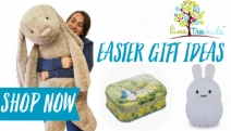 Your Kids will Surely Hop into Excitement with the Easter Gift Ideas from Lime Tree Kids! Shop the Bunny Comforter Blanket, Blue Bunny Soother & More