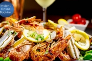 Splash Into Waves Buffet Restaurant in Surfers Paradise for an All-You-Can-Eat Seafood Buffet! Available for Thursday Dining, or Upgrade for Saturday