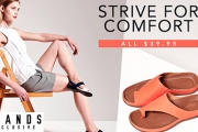 Strive for Comfy Feet w/ a Pair of Strive Sandals! Designed to Ease the Aches & Pains of Sore Feet w/ Biomechanical Footbed Technology. Plus P&H
