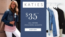 Who Doesn't Love their Versatile Denim Apparel?! Stock Up w/ this Katies $35 Jeans & Denim Jackets Sale! Shop Jeans, Jeggings, Jackets, Skirts & More