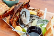 Enjoy a Waterfront Seafood Platter + Glass of Wine for Two or Four at Mister Walker, South Perth! Think Pickled Mussels, Lemon & Chilli Squid & More