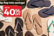 Get Ready to Bare Your Toes this Spring with Up to 40% Off Brazilian Fave Havaianas! Shop a Range of Styles, Colours & Sizes. Plus P&H