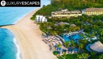 NUSA DUA 5* Beachfront Luxury w/ 5N @ The Ritz-Carlton Bali! Pavillion Villa w/ Pool Access + Daily Dining, Kid's Club & More for 2 + 1 Child Free