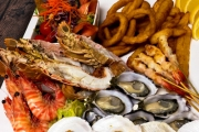 Head to Seagrill Seafood Restaurant & Snap Up a Seafood Platter with Wine for Two for Just $65! Moreton Bay Bugs, Half Shell Scallops, Salad & More