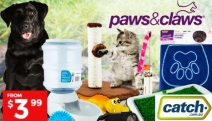 Spoil Your Furry Friend with these Paws & Claws Pet Essentials! Choose from a Range of Products Incl. Training Trays, Pet Carriers, Toys & Lots More