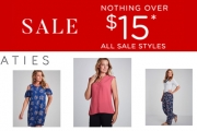 Attention Ladies, Don't Miss the Mega-Sale @ Katies! Nothing Over $15 Sale Items! Shop Blouses, Dresses, Pants & More at Super Affordable Prices