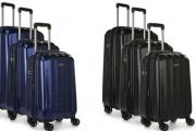 Travel with Ease with the Antler Global 3-Piece Expandable Polycarbonate Suitcase Set! Heavy Duty Design with Fixed TSA Combination Lock & More