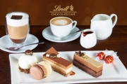 Chocolate Lovers Rejoice w/ a Decadent Lindt Chocolate Cafe Cake Platter w/ Hot Drinks for Two for Only $19.99! Available at 3 Melbourne Locations