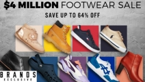 Step Up Your Game with the Epic $4 Million Footwear Sale! Shop Up to 64% Off Shoes for All Ages Incl. Clarks, Timberland, Nike, Fitflop & More