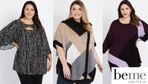 Embrace Your Fab Curves w/ Women's Plus Size Fashion from Beme! Enjoy Up to 50% Off Full Price Styles Incl. Knitwear, Pants, Jackets & More! T&Cs Apply