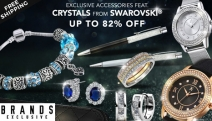 Glam it Up w/ Exclusive Accessories Ft. Crystals from Swarovski! Shop Up to 82% Off the Royal Earrings in White Gold, 2 Hearts as 1 Pendant & More