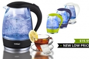 What Drink Breaks the Ice? Flirt-Tea! Brew the Perfect Cuppa w/ a 1.7L LED Glass Kettle! Heat-Resistant Glass, Auto Shutdown, Removable Filter & More