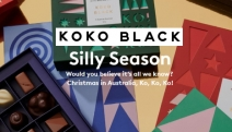 Celebrate the Silly Season w/ the Merry Collection of Gift Ideas from Koko Black! Ft. Chocolate Hampers, Very Merry Buttons, Hot Cocoa & More