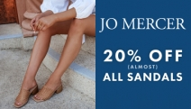 Step Out In Confidence with the Jo Mercer Sandals Sale! Enjoy 20% Off All Sandals! Range of Cylinder Heels, Wedges, Statement Stilettos & More