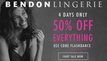 Attention Ladies! Don't Miss 50% Off Everything at Bendon Lingerie Online! Use Code FLASHDANCE. Heidi Klum Intimates, Stella McCartney & Lots More