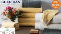Create a Heavenly Day Spa Feel at Home with New Sheridan Luxury Towel Packs! Save Up to 50% Off Bath Towels, Hand Towels, His & Hers Towels & More
