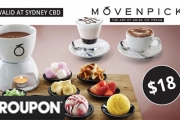 Indulge Your Sweet Tooth w/ a Fondue Set + Hot or Cold Drinks for 2 at Mövenpick Ice Cream! Drizzle & Garnish Your Ice Cream the Way You Like It!