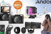 Get Snap Happy w/ Up to 80% Off Andoer Cameras, Equipment & Accessories! Ft. Lens Filter Kits, LED Video Light, Camera Carry Bag, Digital Cameras & More