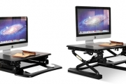 Stuck At Your Desk? Ditch Sitting Down All Day with a Height-Adjustable Standing Desk! Features 12 Height Adjustment Levels, Keyboard Stand & More