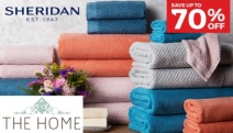 Wrap Yourself in Luxurious Comfort for Less with the New Sheridan Towel Sets! Save Up to 70% Off a Range of Designs in Superior Softness & Absorbency