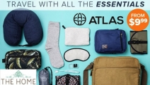 Travel in Ultimate Style with Atlas Travel Accessories! Shop the Foldable Tote Bag, Travel Lunch Pack, Sleep Tight Kit, Hooded Neck Pillow & More