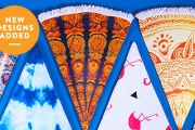 Be the Next Summer Sensation w/ these Round Beach Towels! Choose from New Styles, Ft. Reversible Designs, Turkish Towels, Soft Terry Cotton & More