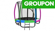 Get Your Little Ones Outdoors w/ a Kahuna 6ft Kids' Trampoline w/ Net! Opt to Incl. Basketball Set. Ft. Zip & Click Safety Lock. Upgrade for More Sizes