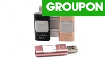 Running Out of Memory on Your iPhone or iPad? Grab this High-Speed Flash Drive w/ Lightning & USB Connectors! No Battery or Network Required