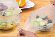 Do Your Part for the Planet! Ditch the Cling Wrap & Grab a Set of 8 Reusable & Adjustable Silicone Food Covers from $9.95! Airtight & Odourless