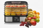 Create Your Own Healthy Snacks at Home with the Todo Electric Food Dehydrator! Large LCD Display w/ Five Clear Plastic Detachable Layers. Plus P&H