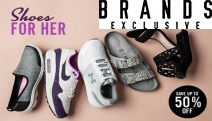 Diamonds are a Girl's Best Friend... But Shoes are a Close 2nd. Save Up to 50% Off on Shoes for Her - Top Brand Name Sneakers, Slides, Sandals & More!