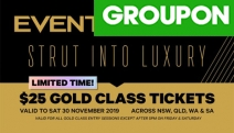 Escape to the Movies! Enjoy the Ultimate Luxury Experience w/ Event Cinemas Gold Class Cinema Pass. Fully Reclining Armchairs at Multiple Locations