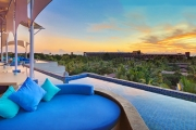 SEMINYAK 7-Night Stay at the Golden Tulip Devins Hotel Seminyak! Ft. Daily Brekkie, Two Massages, Two Lunches, Welcome Drinks, Return Transfers & More