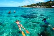 FIJI w/ FLIGHTS 7-Night Beachfront Stay on the Coral Coast at Fiji Hideaway Resort & Spa! Be Spoilt w/ Ocean Bure Room, Brekkie, Foot Massage & More
