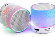 Rock Out Wherever You Are w/ a Mini Portable Bluetooth LED Speaker! Get it in Your Choice of Pink, Blue or Green. Ft. Rechargeable Battery