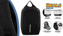 Travel in Confidence w/ a 14L Anti-Theft, Water-Resistant Backpack! Ideal Travelling Companion w/ Charging Port. Stain-Resistant Shell w/ Hidden Zips