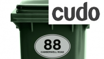 Make Your Wheelie Bins Stand Out on Your Street w/ 6-Pk of Personalised Stickers! Printed on Durable & Waterproof Glossy Vinyl. Choice of 3 Designs
