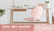 Working From Home Doesn't Have to Be a Struggle! Upgrade Your Space w/ Up to 15% Off Home Office Furniture @ Zanui! Desks, Comfy Office Chairs & More