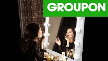 Feel Like a Star in the Comforts of Your Home w/ a Hollywood-Style Makeup Mirror w/ LED Lights From $129! Wall-Mounted or Table Top in Range of Sizes
