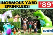 Have Some GIANT-Sized Fun this Summer with these Ginormous Yard Sprinklers! At Over 182cm Tall They are Perfect for Parties, BBQ's & Heatwaves!