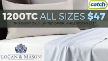 Enjoy Hotel Luxury in the Comfort of Your Home w/ Logan & Mason! 1200TC Luxury Sheet Sets in King & Queen All $47, 4 Colours. Hurry, Ends Soon