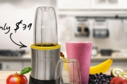 Blend Your Way to Better Health with a 15-Piece Nutri-Blast Blender! Blend, Juice, Grind & More. Incl. 5 Blending Cups, Travel Lid & More. Plus P&H